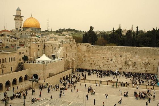 Dome_of_the_Rock_and_Wailing_wall_by_Peter_Mulligan