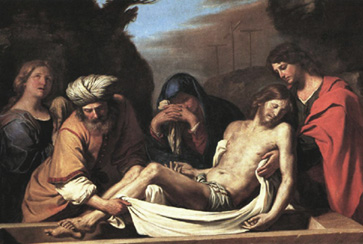Image result for image of joseph of arimathea burying Jesus