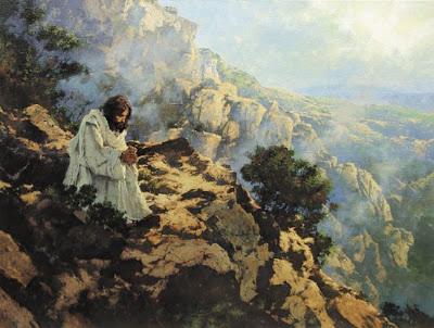 Jesus pray mountain wilderness 2
